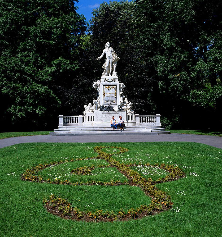 Statue of Mozart, Vienna, Austria, Europe - 846-259
