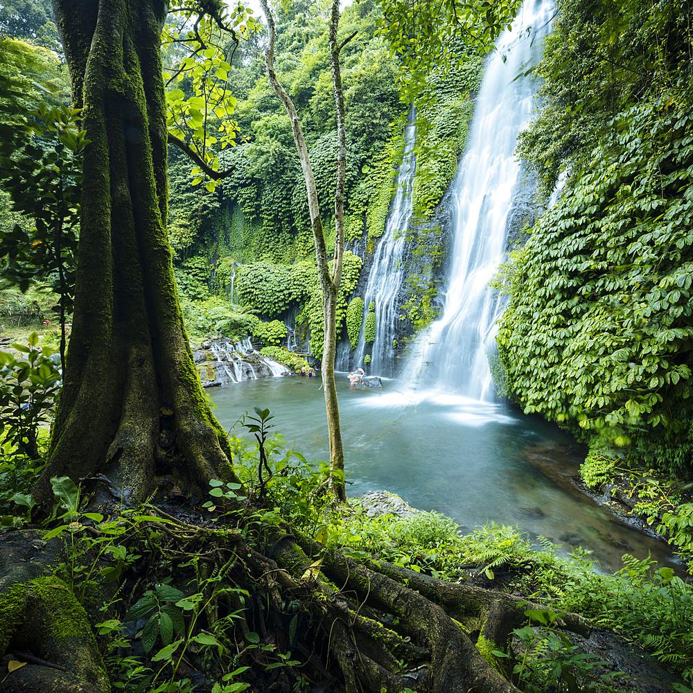 Banyumala Twin Waterfalls, Wanagiri, Buleleng, Bali, Indonesia, Southeast Asia, Asia - 848-1904