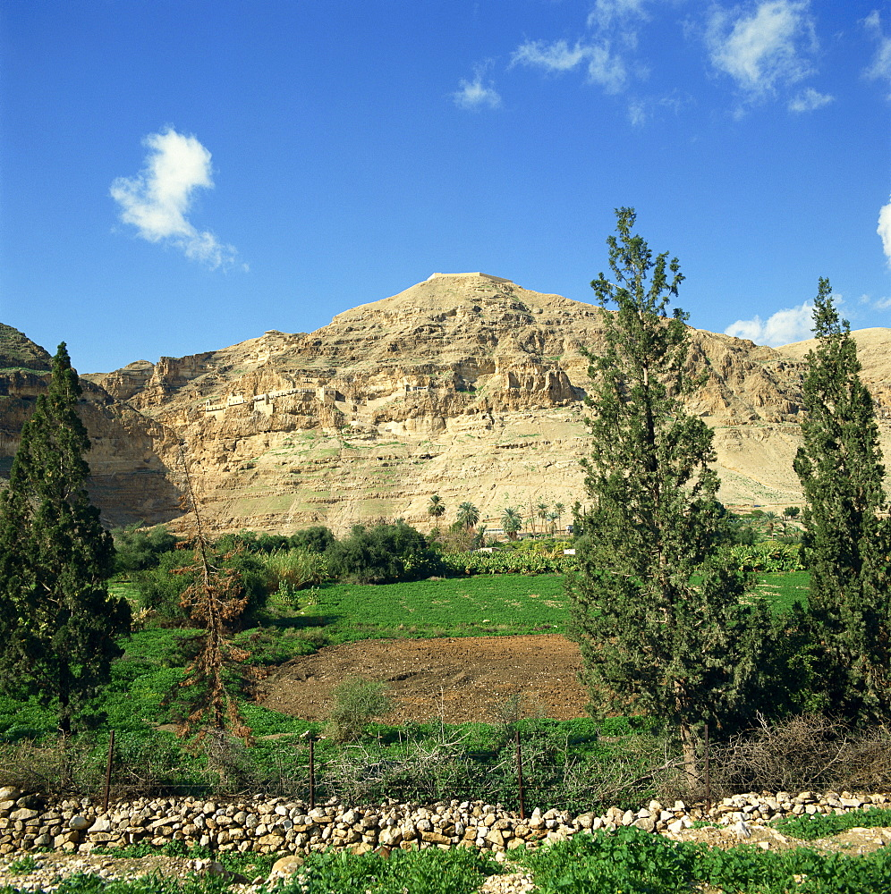 Mount of Temptation, near Jericho, Israel, Middle East