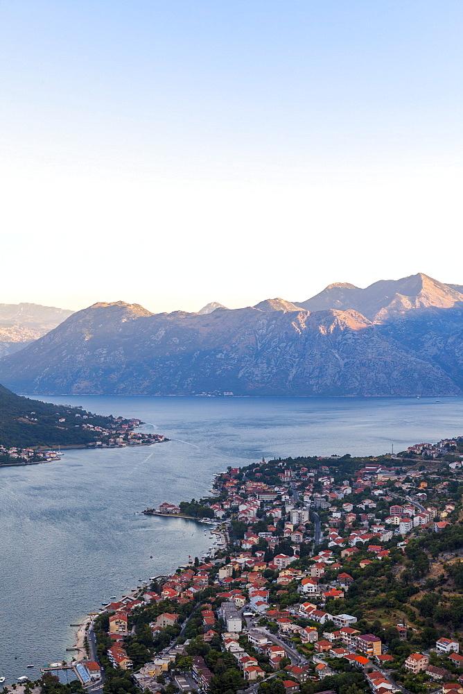 Kotor at dawn, Bay of Kotor, UNESCO World Heritage Site, Montenegro, Europe