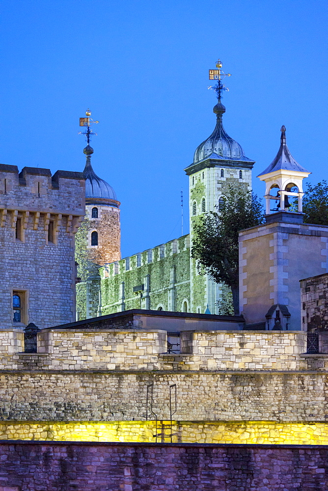 The Tower of London illuminated at night, UNESCO World Heritage Site, London, England, United Kingdom, Europe - 10-448