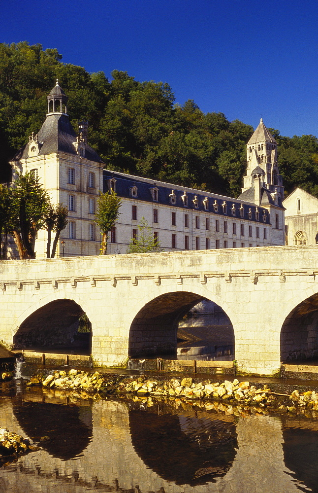 Bridge and Medieval Monastery, Brantome, Dordogne, France - 11-187