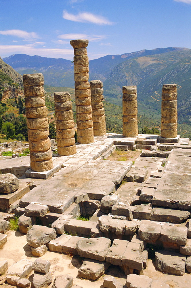 Temple of Apollo, Delphi, Greece, Europe