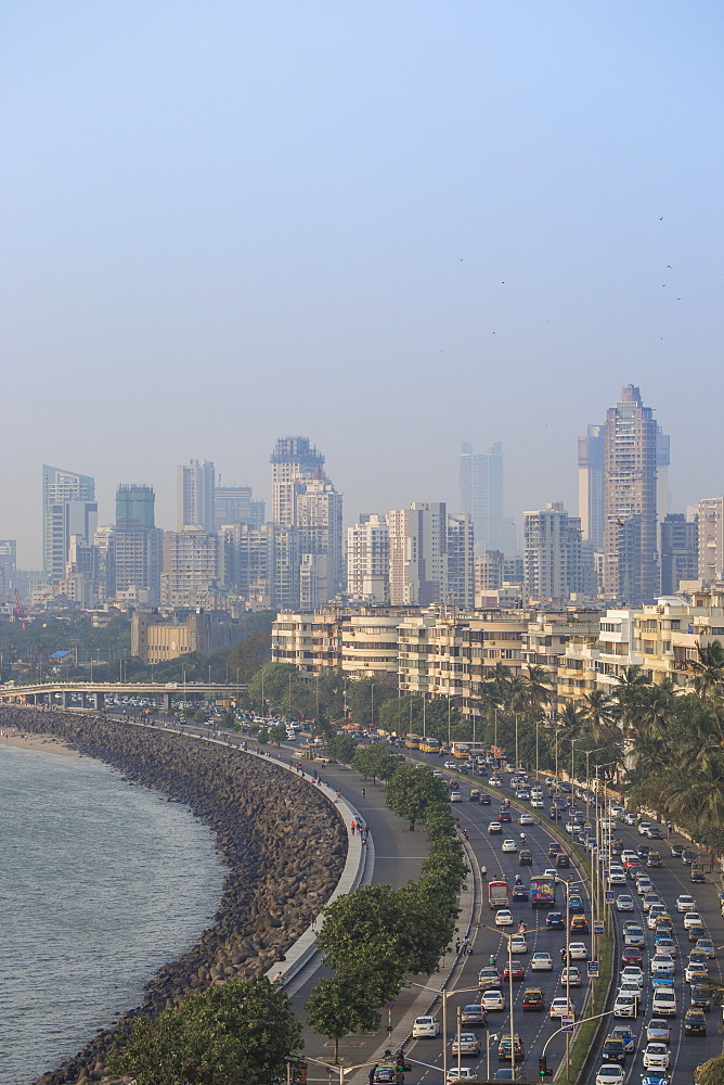View of Marine Drive, Mumbai, Maharashtra, India, Asia - 1104-1016