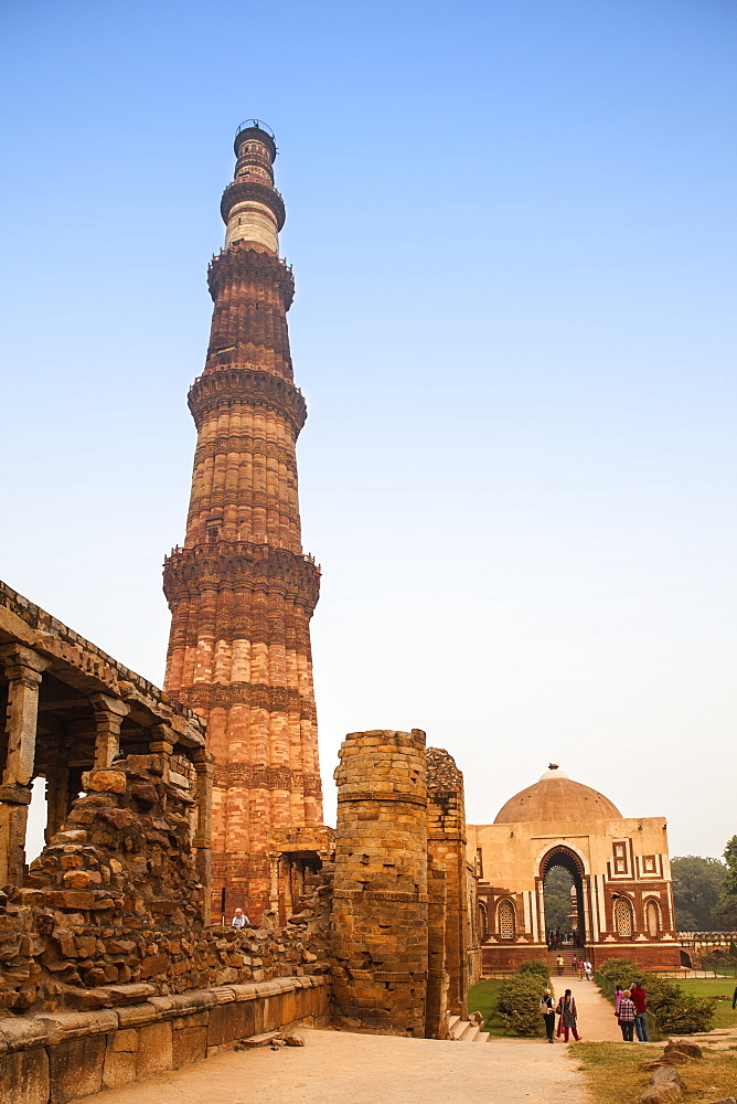 Qutub Minar, UNESCO World Heritage Site, Delhi, India, Asia