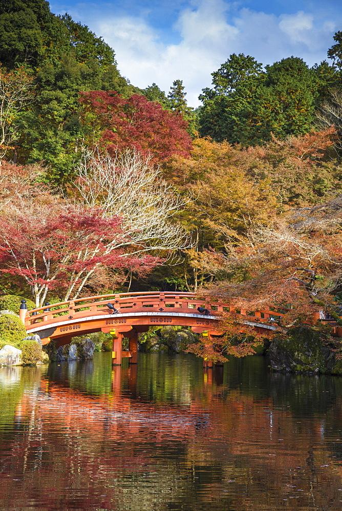 Japan, Kyoto, Daigoji Temple, Bentendo Hall, Bridge - 1104-1289