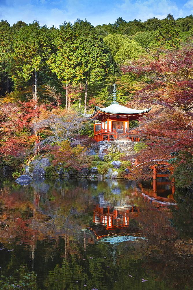 Japan, Kyoto, Daigoji Temple, Bentendo Hall - 1104-1291