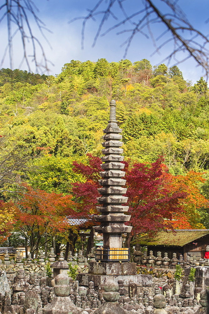 Japan, Kyoto, Arashiyama, Adashino Nenbutsu-Ji Temple - 1104-1301
