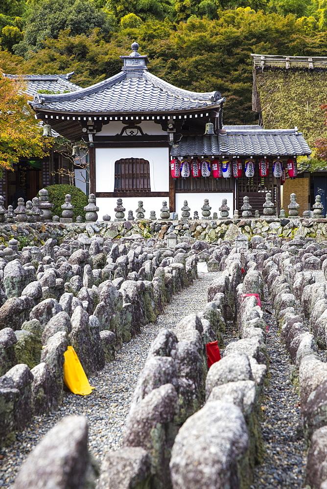 Japan, Kyoto, Arashiyama, Adashino Nenbutsu-Ji Temple - 1104-1306