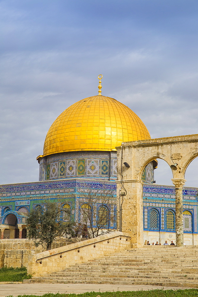 Dome of the Rock, Temple Mount, Old City, UNESCO World Heritage Site, Jerusalem, Israel, Middle East - 1104-1311
