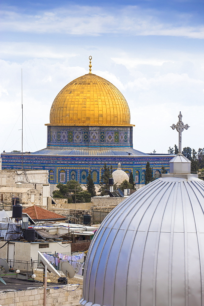 View of Dome of the Rock, Old City, UNESCO World Heritage Site, Jerusalem, Israel, Middle East - 1104-1322