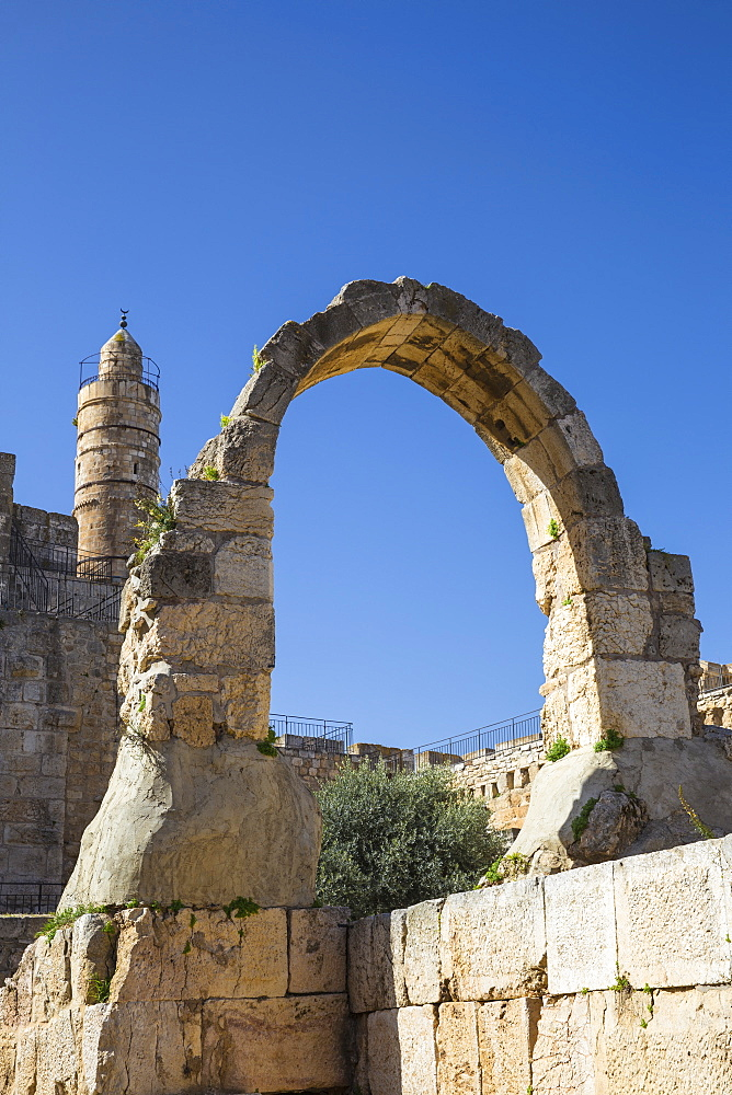 The Tower of David (the Jerusalem Citadel), Old City, UNESCO World Heritage Site, Jerusalem, Israel, Middle East - 1104-1347