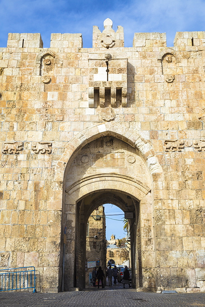 St. Stephen's Gate (The Lion Gate), Old City, UNESCO World Heritage Site, Jerusalem, Israel, Middle East