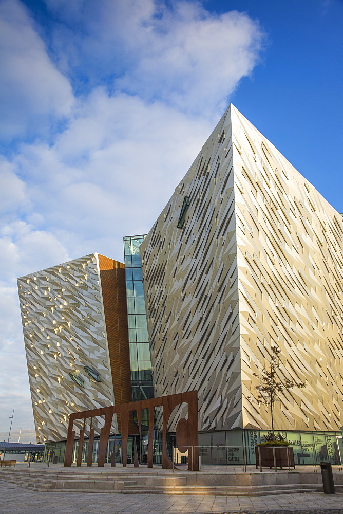 View of the Titanic Belfast Museum, Belfast, Ulster, Northern Ireland, United Kingdom, Europe