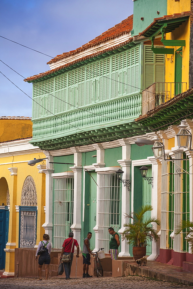 Colourful houses in historical center, Trinidad, UNESCO World Heritage Site, Sancti Spiritus Province, Cuba, West Indies, Caribbean, Central America