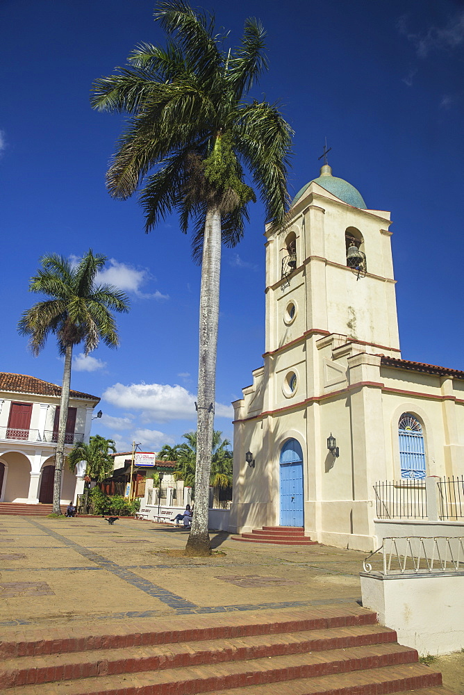 Church on Central Square, Vinales Town, Vinales, Pinar del Rio Province, Cuba, West Indies, Caribbean, Central America