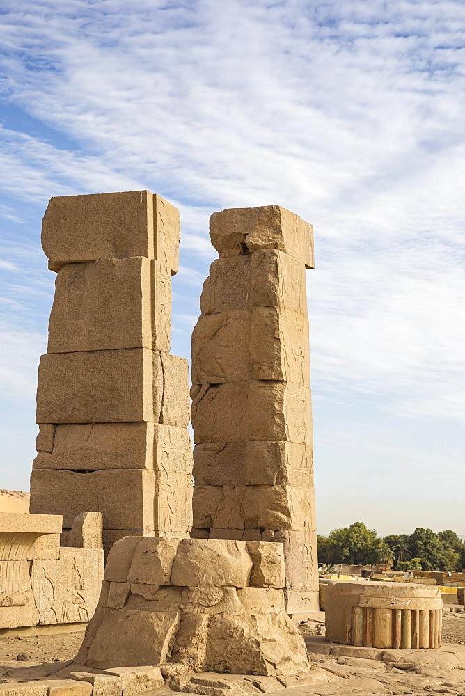 Egypt, Upper Egypt, Aswan, Khnum ruins on Elephantine Island