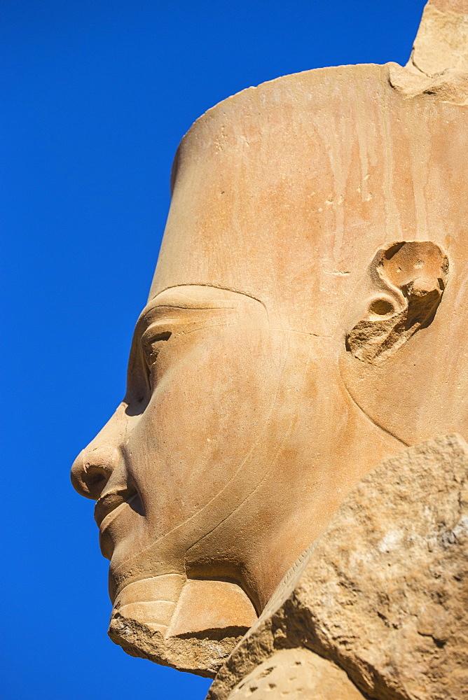 Egypt, Luxor, Karnak Temple, Statue of Tutankhamun