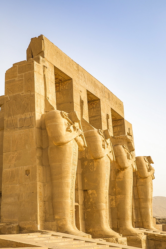 Egypt, Luxor, West Bank, the Temple of Ramessess 11 known as The Ramesseum - 1104-887