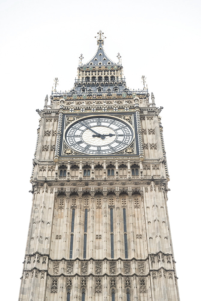 Big Ben (Elizabeth Tower), Houses of Parliament, Westminster, London, England, United Kingdom, Europe