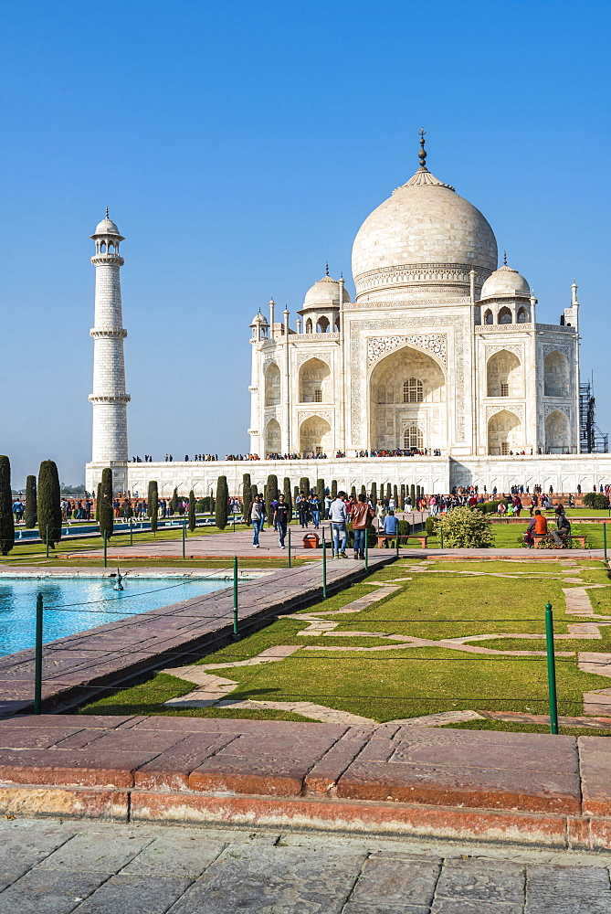 Taj Mahal, UNESCO World Heritage Site, Agra, Uttar Pradesh, India, Asia - 1109-3176