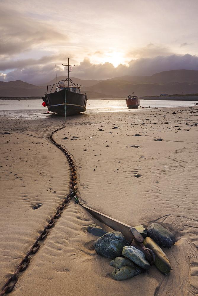 Old fishing boat, Barmouth Harbour, Gwynedd, North Wales, Wales, United Kingdom, Europe