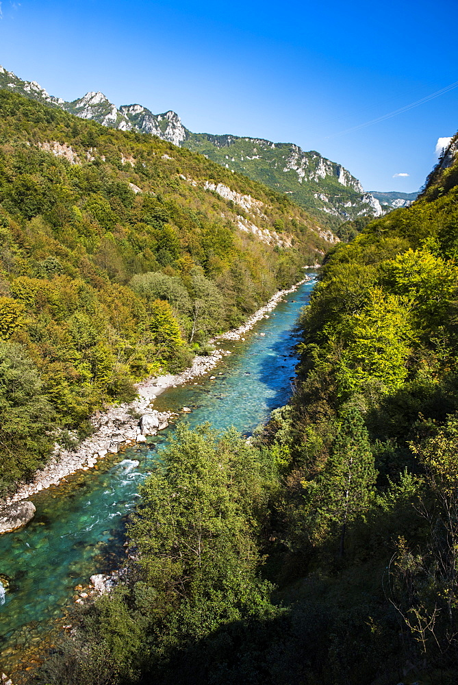 Tara River Canyon Gorge, Bosnia and Herzegovina border with Montenegro, Europe - 1109-3590