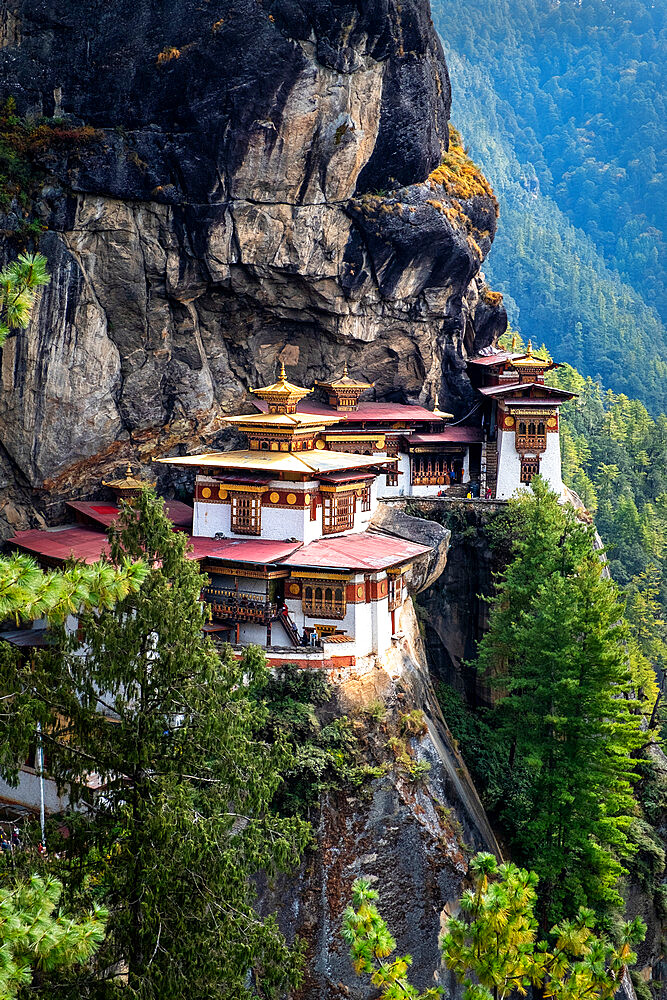 Tiger's Nest Monastery, is a sacred Vajrayana Himalayan Buddhist site located in the upper Paro valley in Bhutan. - 1111-166