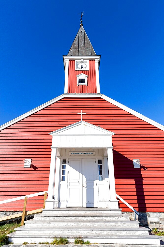 The Lutheran Cathedral in Nuuk (Godthab), the Capital and the largest city in Greenland, Polar Regions - 1112-5839