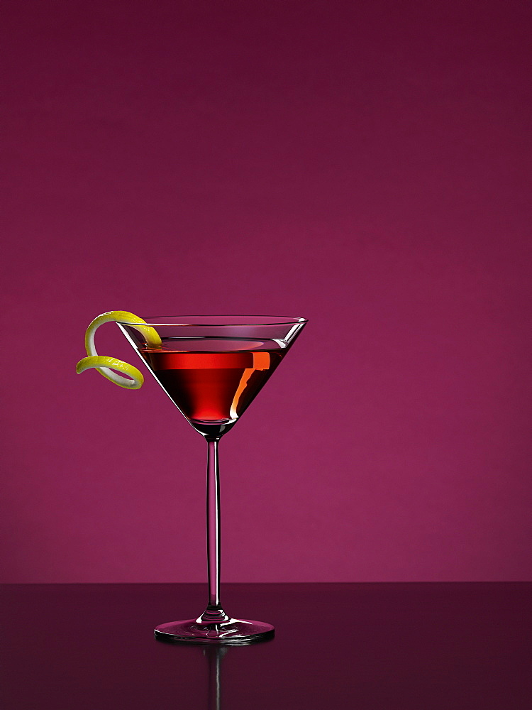 Cosmopolitan cocktail with a purple background, Cocktail, Drink - 1113-104664