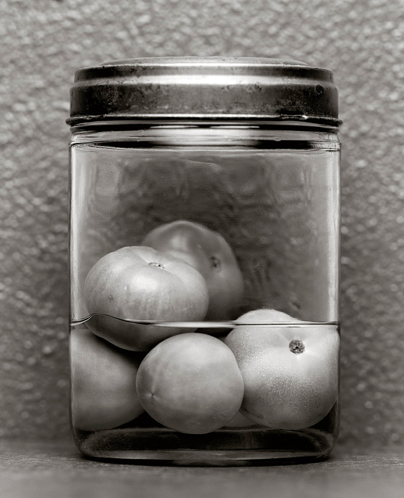 Green tomatoes preserved in a jar, Food - 1113-104729