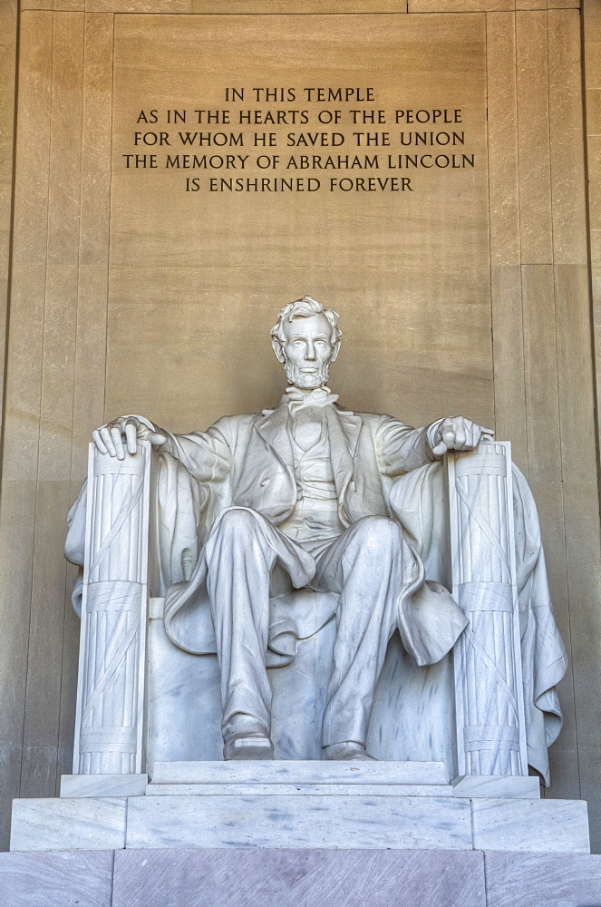 Statue of Abraham Lincoln, Lincoln Memorial, Washington D.C., United States of America - 1116-47318