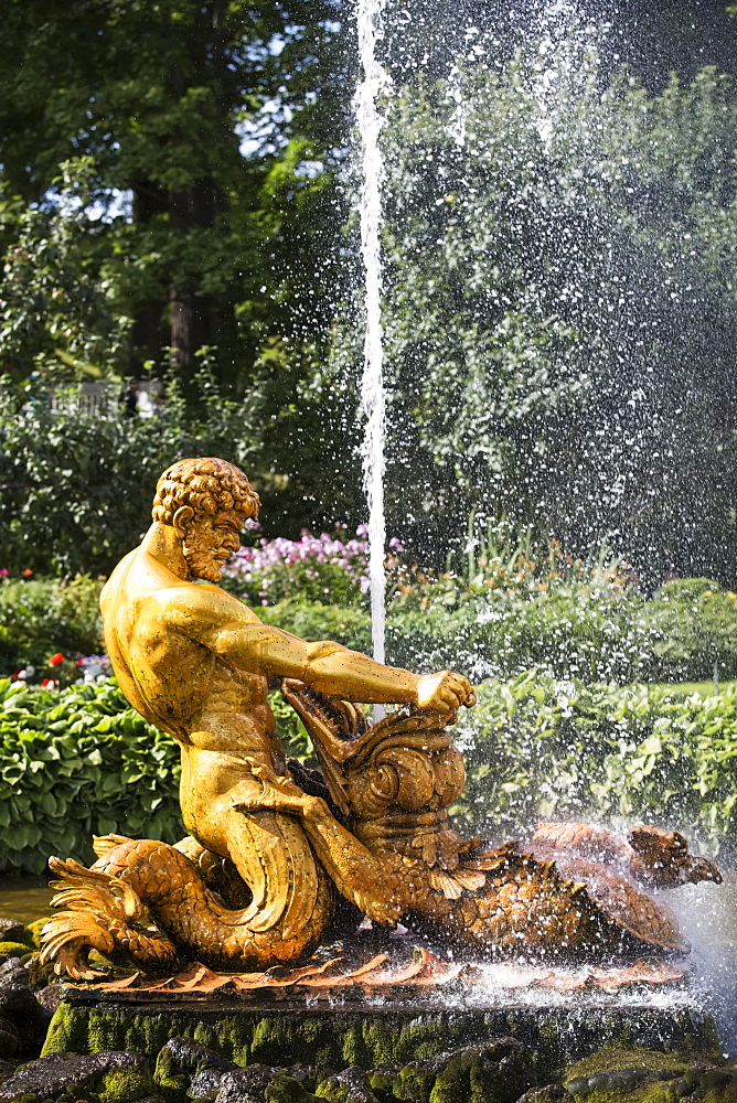 Triton Fountain, Peterhof, Russia