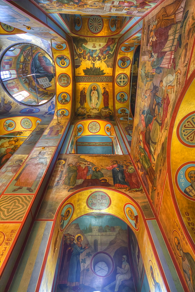 Fresco paintings, St. George's (Yuriev) Monastery, Veliky Novgorod, Novgorod Oblast, Russia