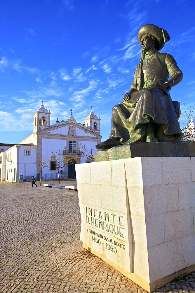 Statue of Henry The Navigator, Lagos, Western Algarve, Algarve, Portugal, Europe