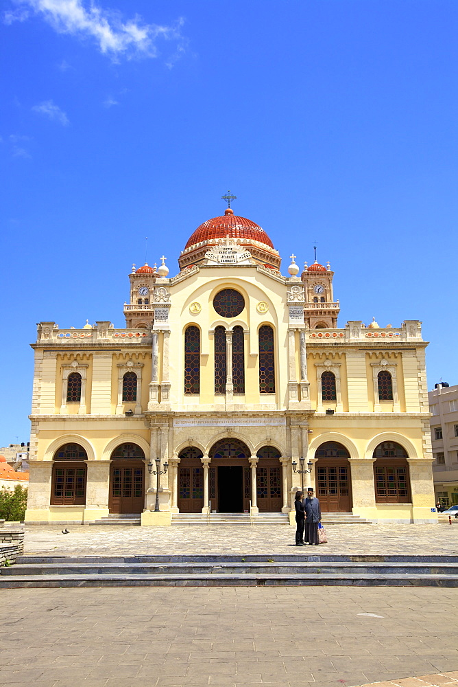 The Metropolitan Church of Agios Minas, Heraklion, Crete, Greek Islands, Greece, Europe - 1126-1563