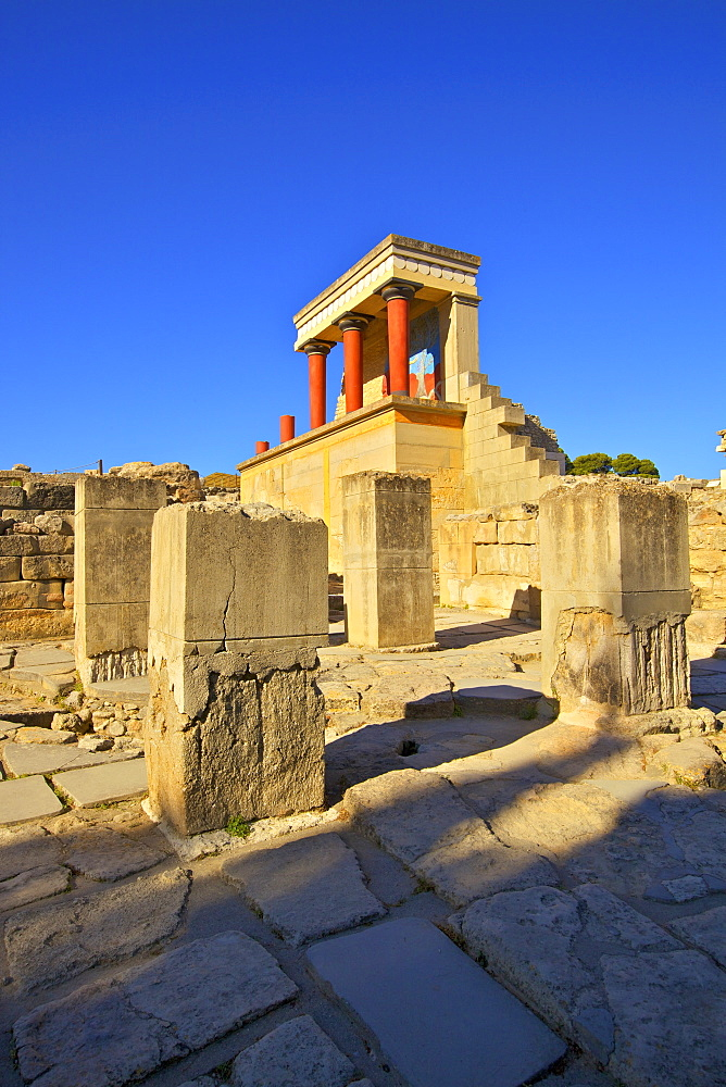 The Minoan Palace of Knossos, Knossos, Heraklion, Crete, Greek Islands, Greece, Europe - 1126-1571