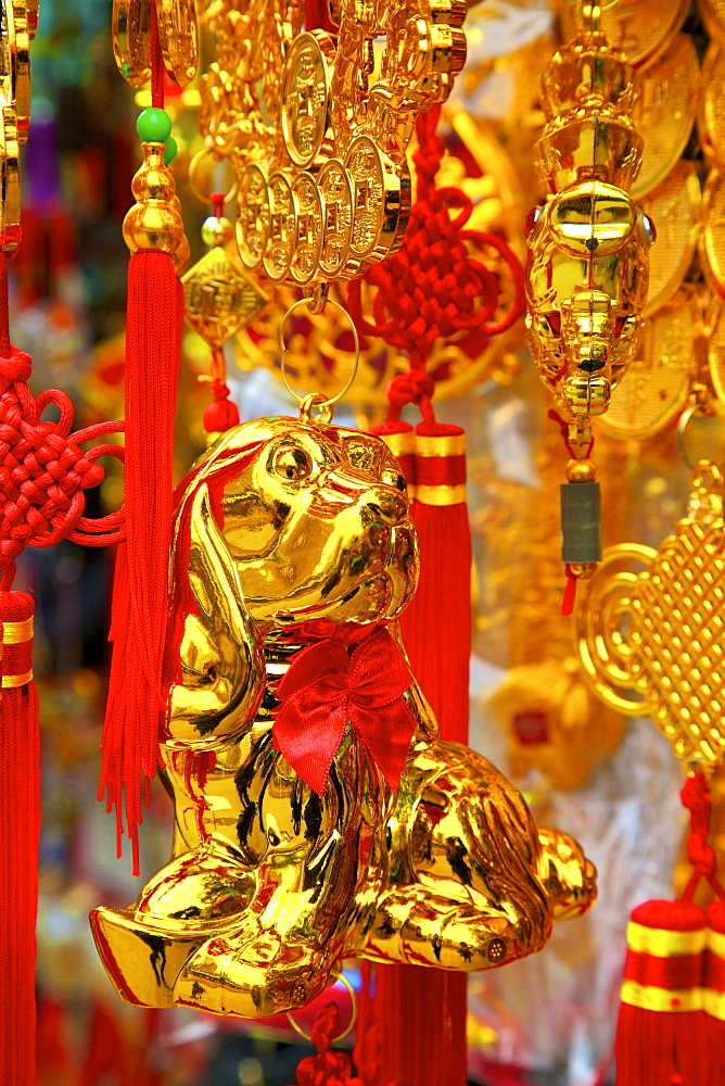 Chinese New Year decorations, Hong Kong, China, Asia - 1126-1649