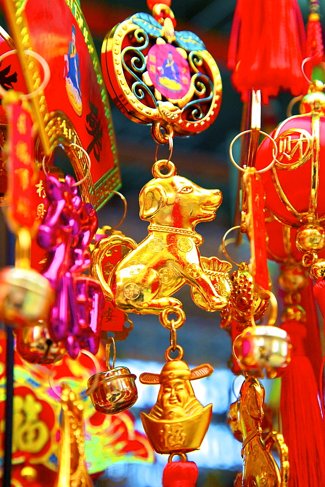 Chinese New Year decorations, Hong Kong, China, Asia - 1126-1653