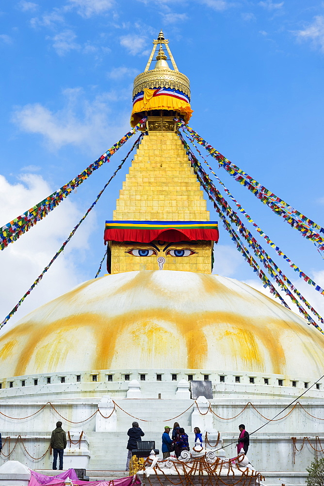 Largest Asian Stupa, Boudhanath Stupa, UNESCO World Heritage Site, Kathmandu, Nepal, Asia