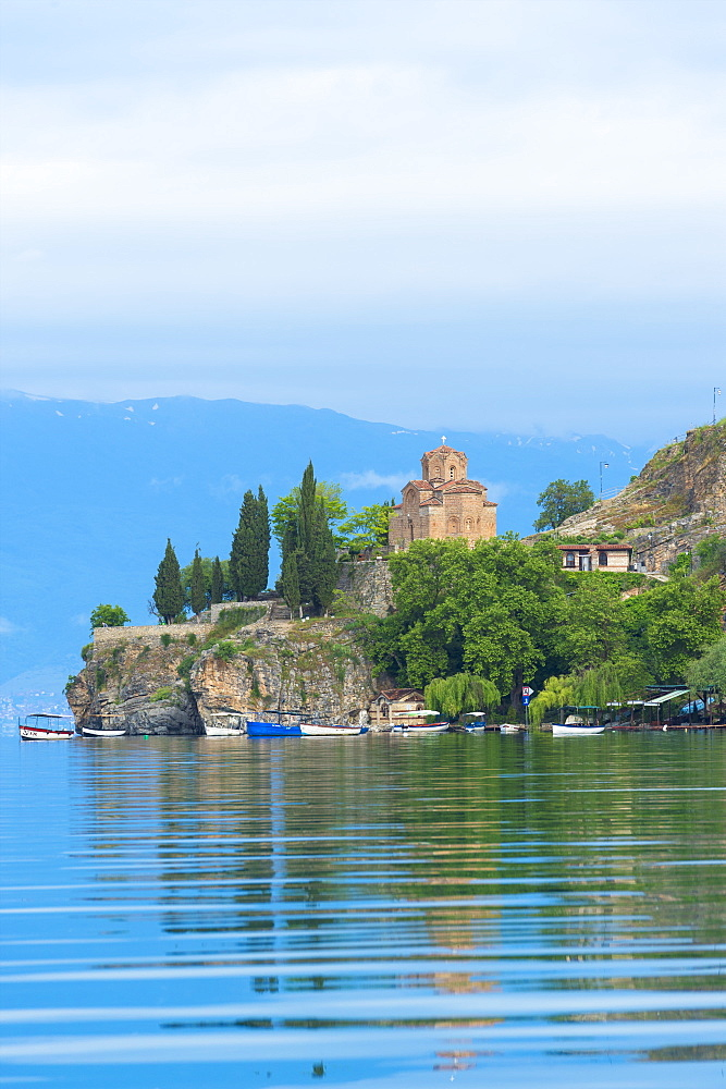 St. John Theologian-Kaneo Church, Ohrid Lake, UNESCO World Heritage Site, Macedonia, Europe - 1131-1141