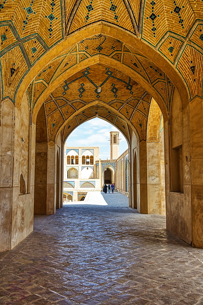 Agha Bozorg Mosque, Kashan, Isfahan Province, Islamic Republic of Iran, Middle East