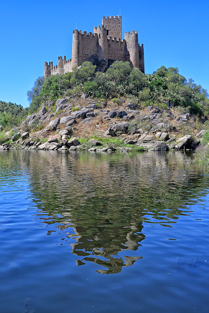 Almourol Castle on the Tagus River, Ribatejo, Portugal, Europe - 1131-1580