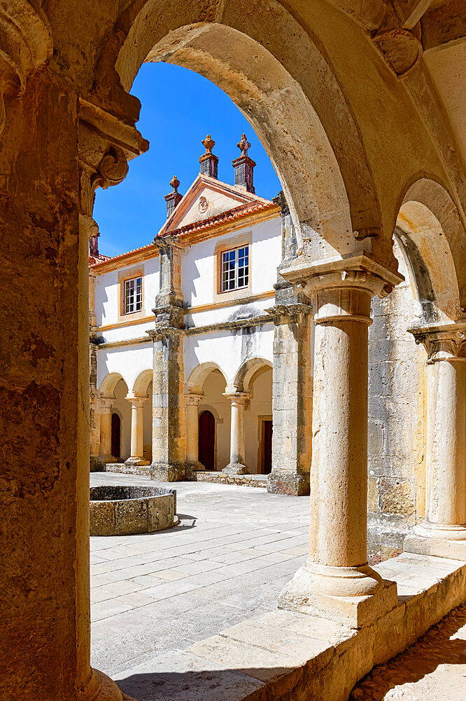 Micha Cloister, Courtyard, Castle and Convent of the Order of Christ (Convento do Cristo), UNESCO World Heritage Site, Tomar, Santarem district, Portugal, Europe - 1131-1589