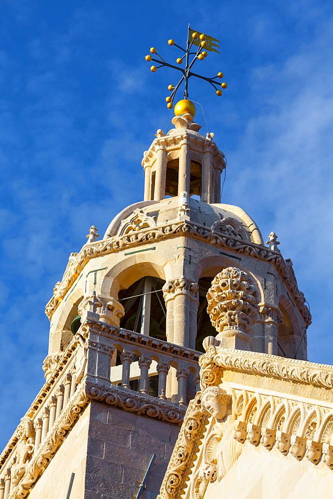 St. Marko Bell Tower, Stari Grad (Old Town), Korcula Town, Korcula, Dalmatia, Croatia, Europe - 1158-454