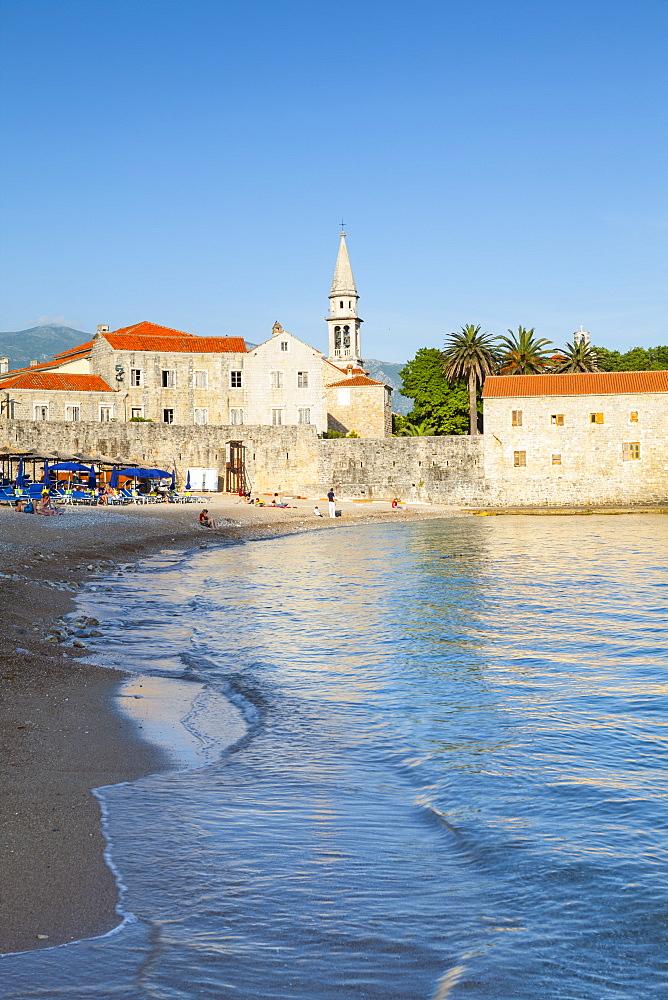 City Beach, Stari Grad (Old Town), Sveti Ivan, Budva, Montenegro, Europe