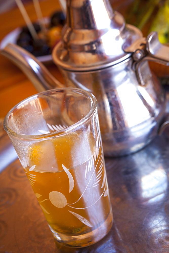 Mint tea, Marrakesh, Morocco, North Africa, Africa