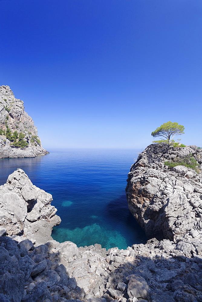 Bay Cala de Sa Calobra, Majorca (Mallorca), Balearic Islands (Islas Baleares), Spain, Mediterranean, Europe