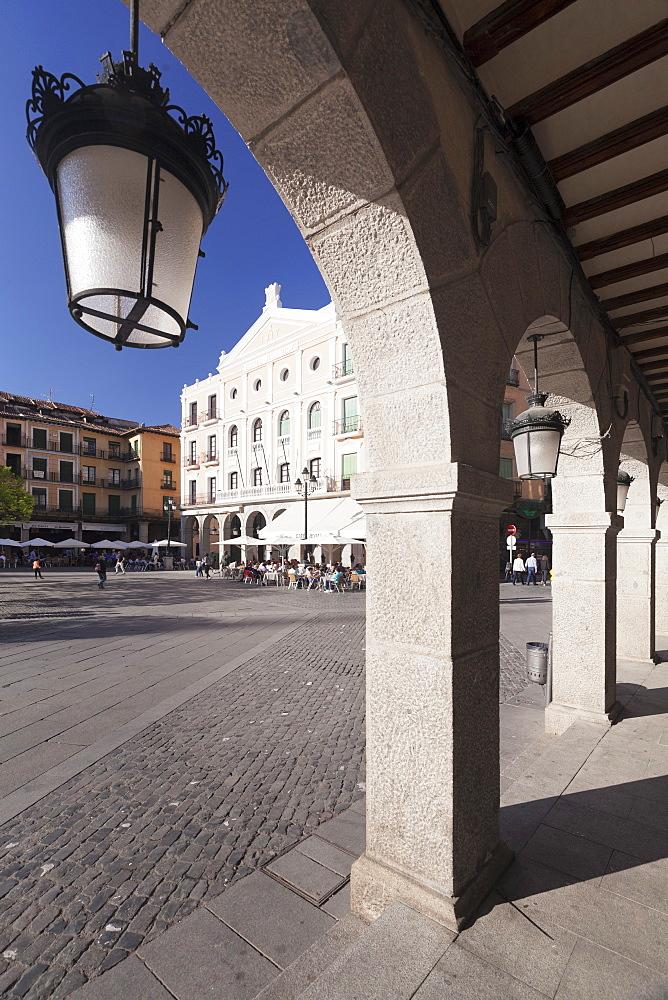 Plaza Mayor, Teatro Juan Bravo, Segovia, Castillia y Leon, Spain