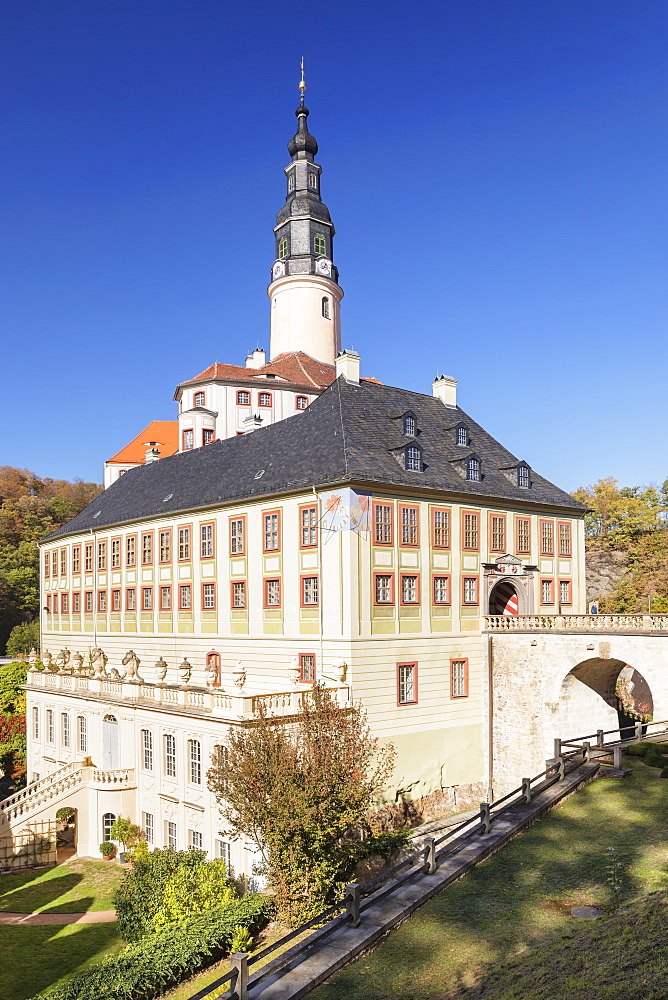 Weesenstein Castle, Mueglitztal Valley, Saxony, Germany